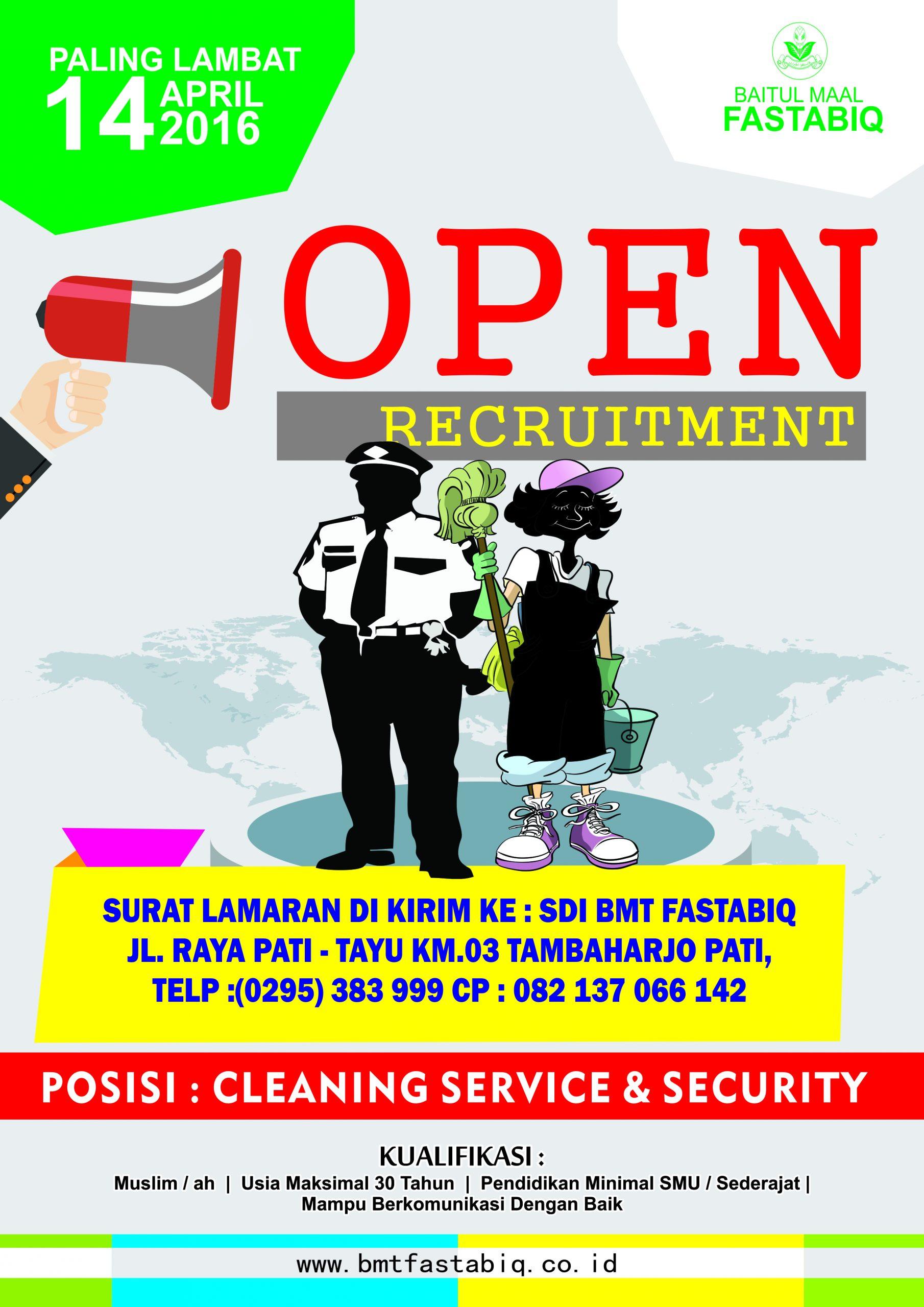 Info Lowongan Kerja Security Dan Cleaning Service Kspps Bmt Fastabiq Pati