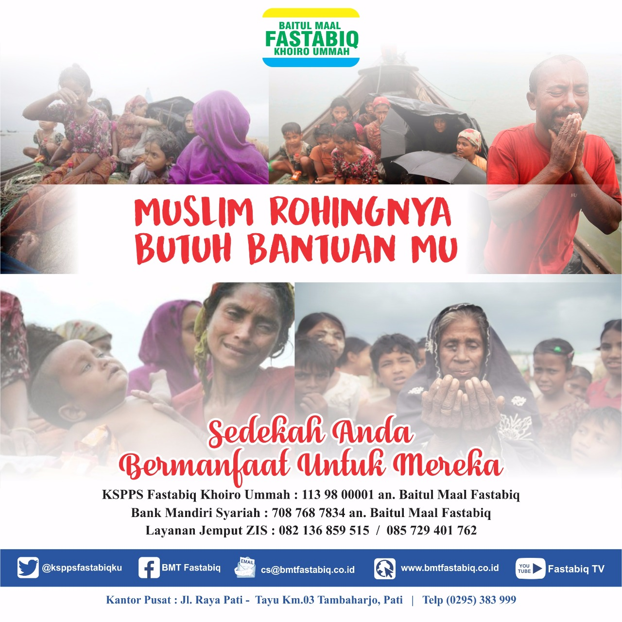KSPPS Fastabiq Galang Donasi Bagi Pengungsi Rohingya Myanmar