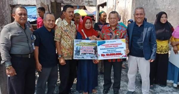 Peduli Korban Kebakaran Pasar Cepu, BMT Fastabiq Serahkan Dana Ta'awun