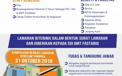 Open Recruitment Staf Remedial dan Security BMT Fastabiq